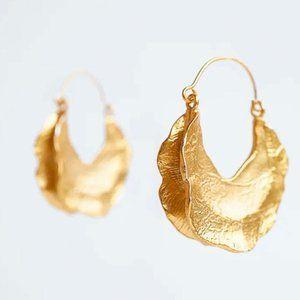 Gold Petal Earrings